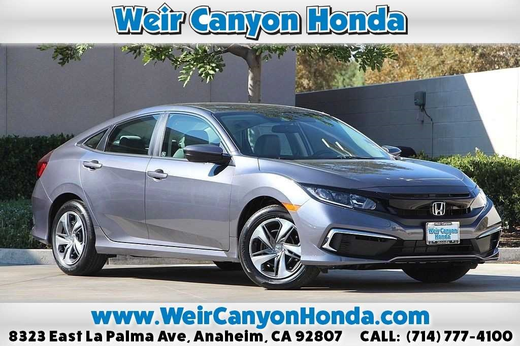 Honda Civic New >> New 2019 Honda Civic Lx 4d Sedan In Anaheim 00054635 Weir Canyon